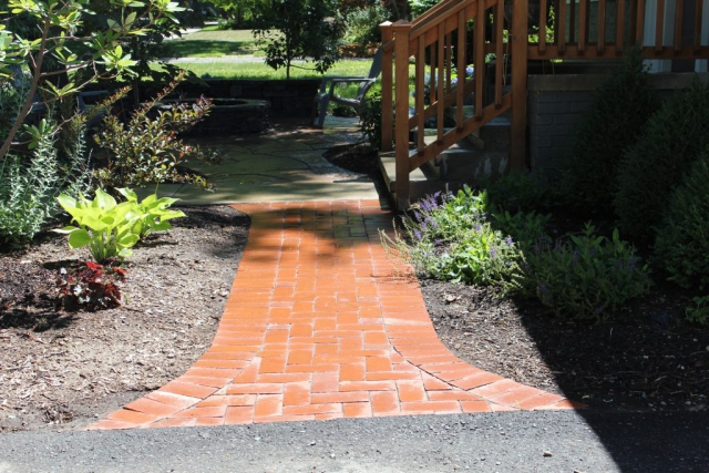 Clay Paver Walkway