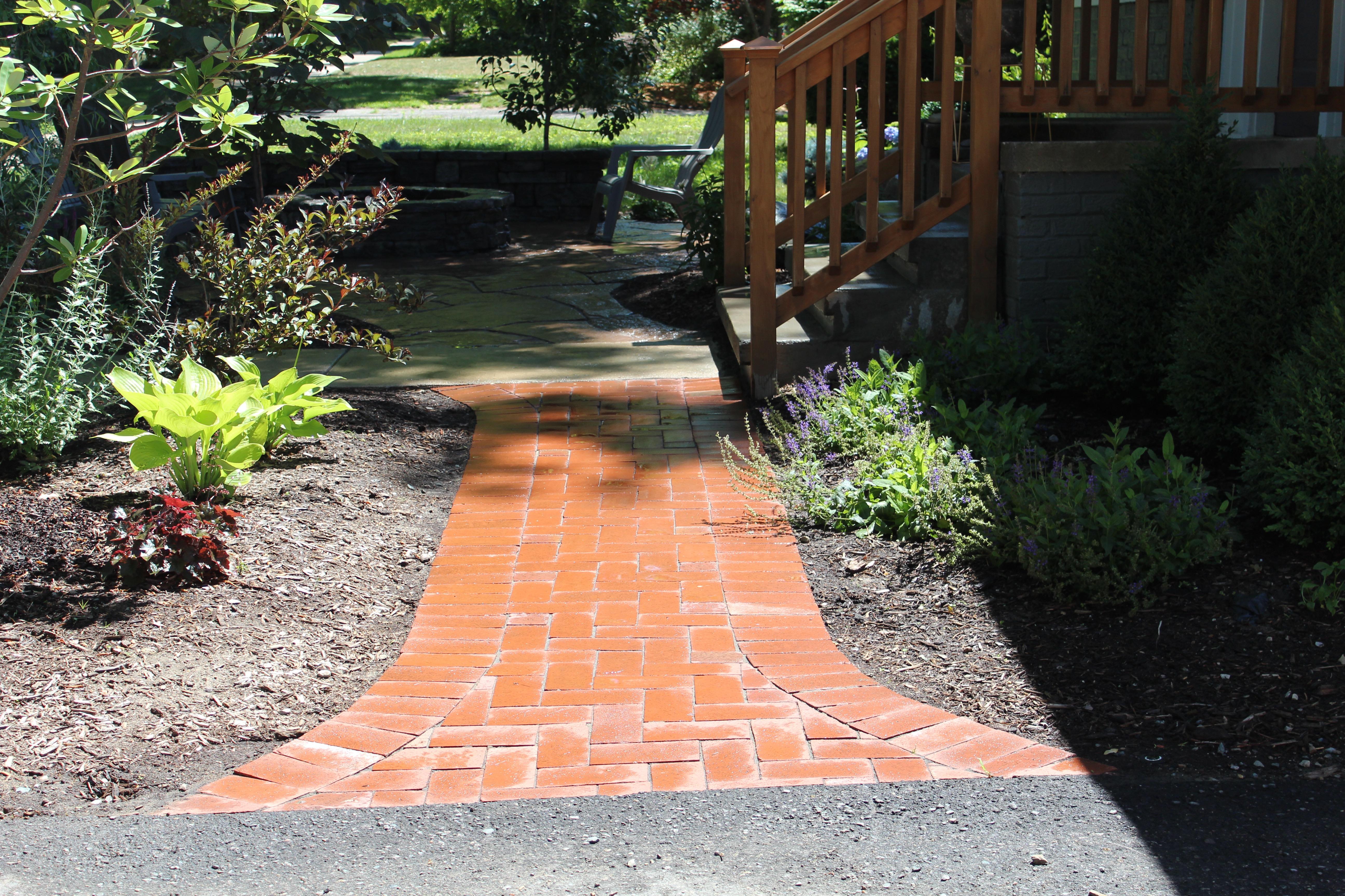 Clay Brick Walkway