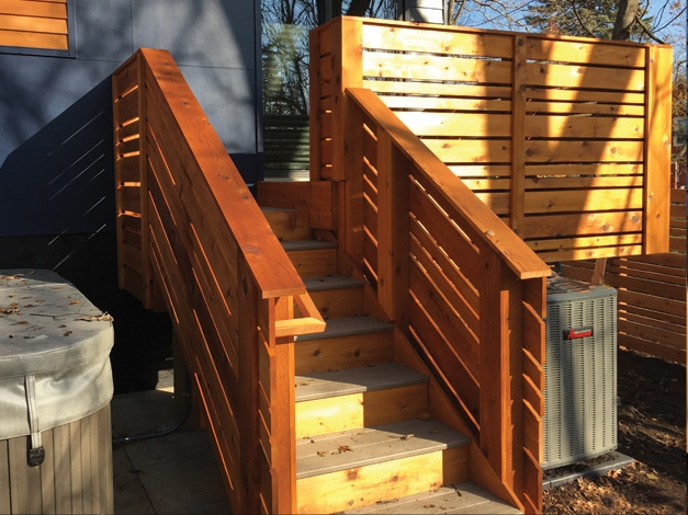 Custom Cedar Deck Railing