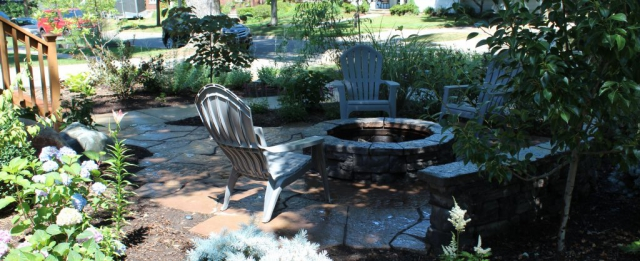 Rosetta Wall, Fire Pit, Patio